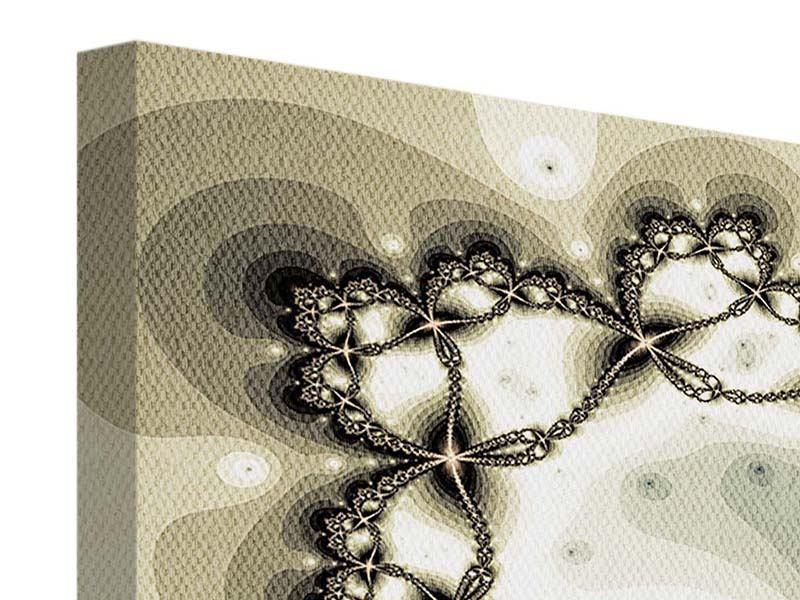 Leinwandbild 4-teilig modern Abstrakter Schmetterling