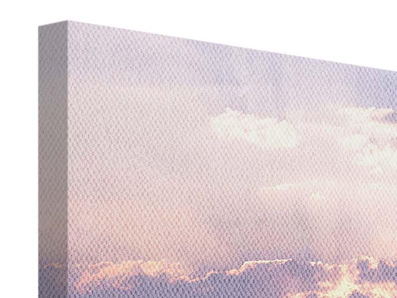 Leinwandbild 4-teilig modern Sonnenaufgang am Meer