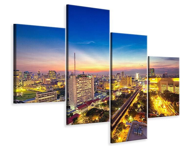 Leinwandbild 4-teilig modern Bangkok