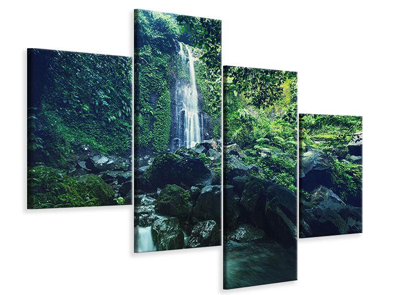 Leinwandbild 4-teilig modern Natur