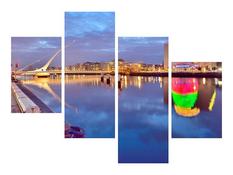 Leinwandbild 4-teilig modern Samuel Beckett Bridge