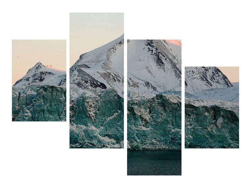 Leinwandbild 4-teilig modern Die Antarktis
