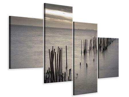 Leinwandbild 4-teilig modern Das Meer und die Träne