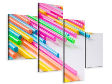 Leinwandbild 4-teilig modern Pop Art