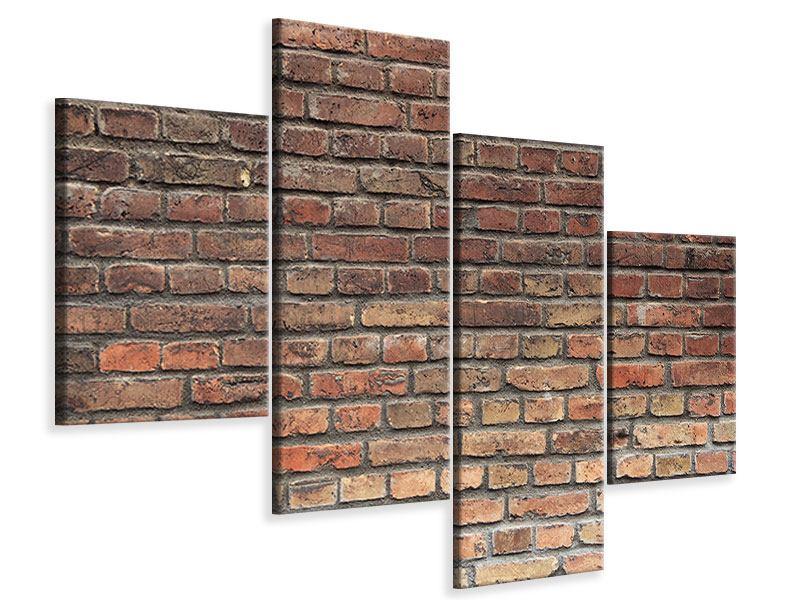 Leinwandbild 4-teilig modern Brick Wall