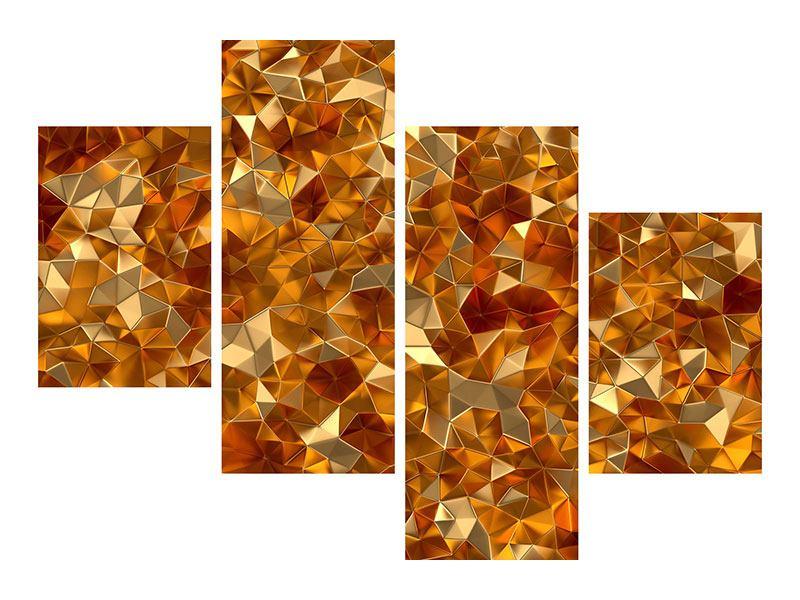 Leinwandbild 4-teilig modern 3D-Bernsteine