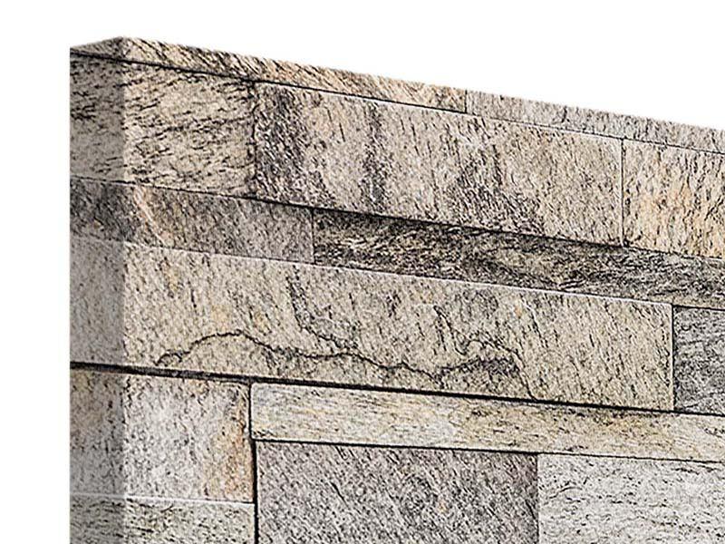 Leinwandbild 4-teilig modern Elegante Steinmauer