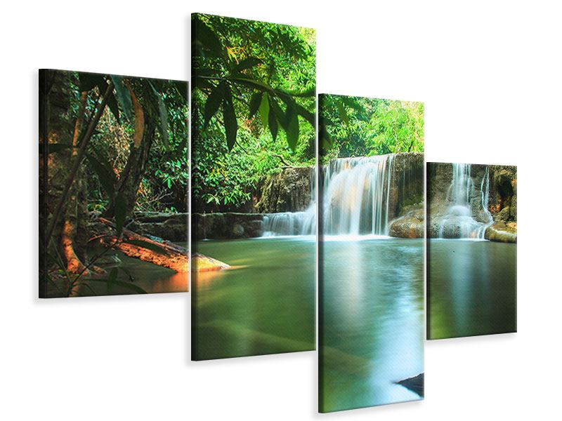 Leinwandbild 4-teilig modern Element Wasser