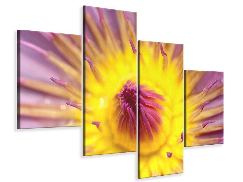 Leinwandbild 4-teilig modern XXL-Lotus