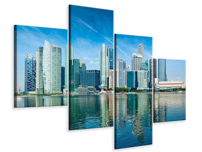 Leinwandbild 4-teilig modern Skyline Mexiko-Stadt