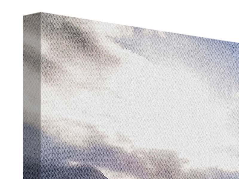 Leinwandbild 4-teilig modern Der Frühling in den Bergen