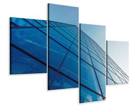 Leinwandbild 4-teilig modern Wolkenkratzer-Highlight
