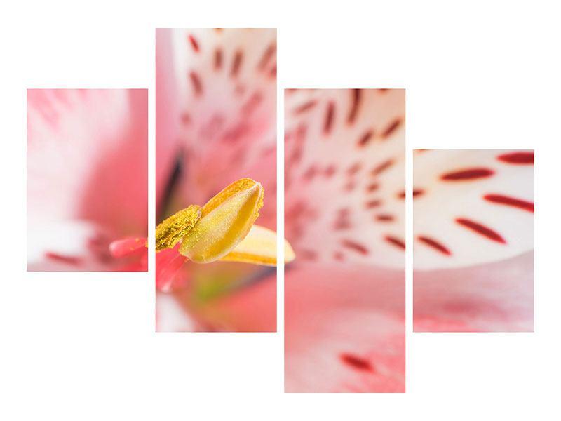 Leinwandbild 4-teilig modern Der Lilienstempel