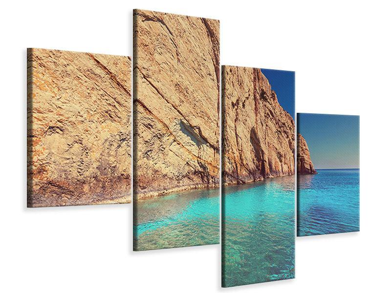 Leinwandbild 4-teilig modern Wasser