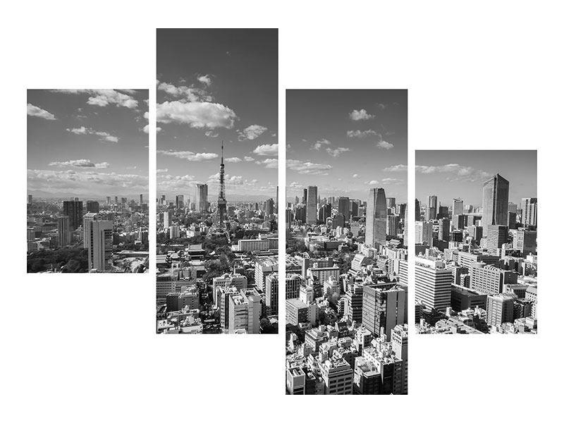 Leinwandbild 4-teilig modern Tokio