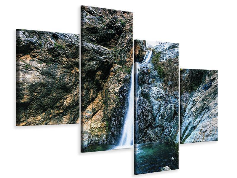 Leinwandbild 4-teilig modern Bewegtes Wasser