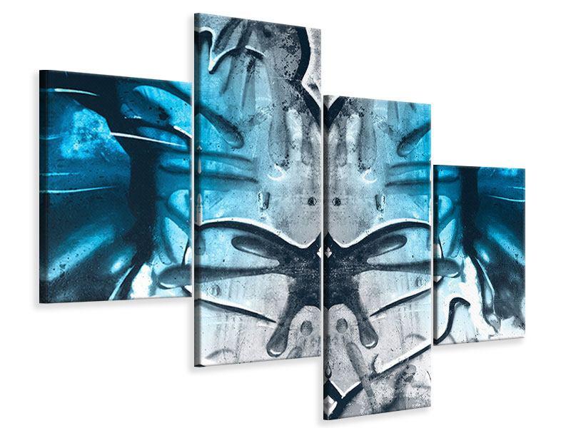 Leinwandbild 4-teilig modern Painting On The Wall