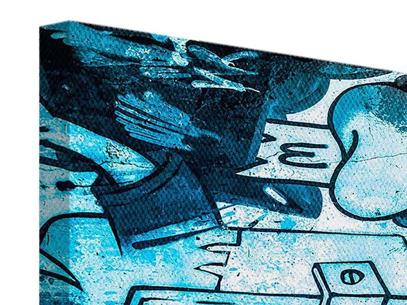 Leinwandbild 4-teilig modern Graffiti