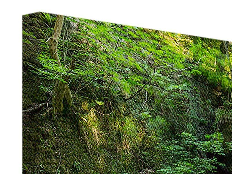 Leinwandbild 4-teilig modern Fallendes Wasser