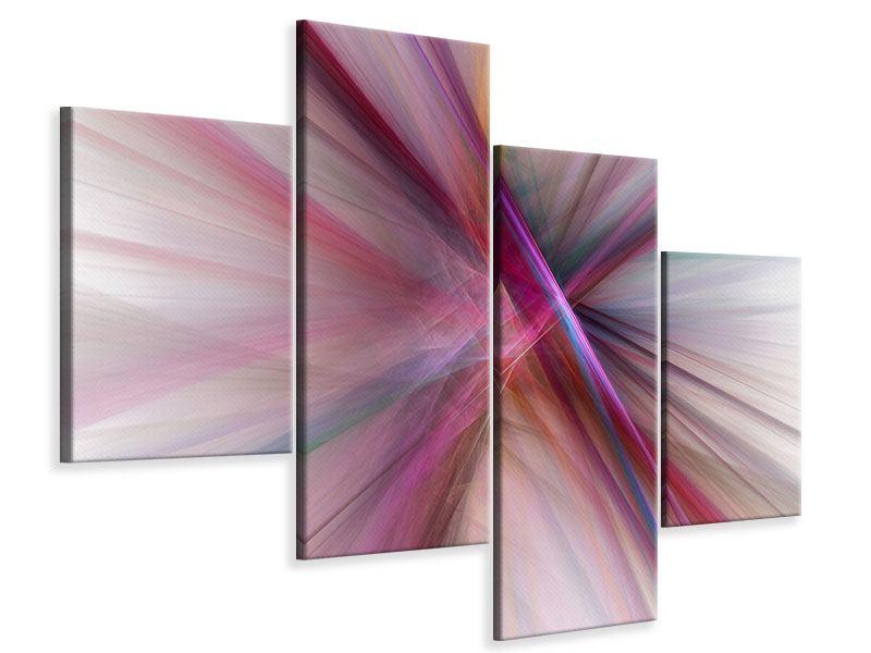 Leinwandbild 4-teilig modern Abstraktes Lichterleuchten