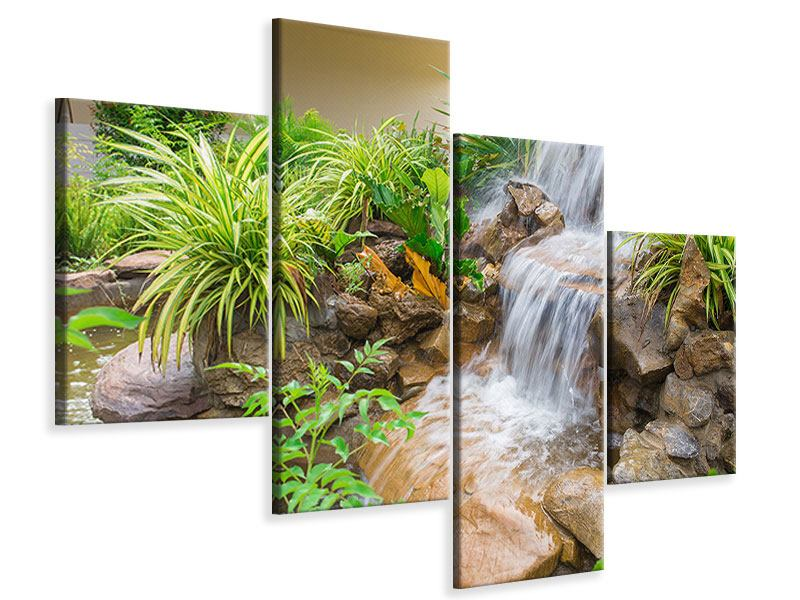 Leinwandbild 4-teilig modern Paradiesgarten