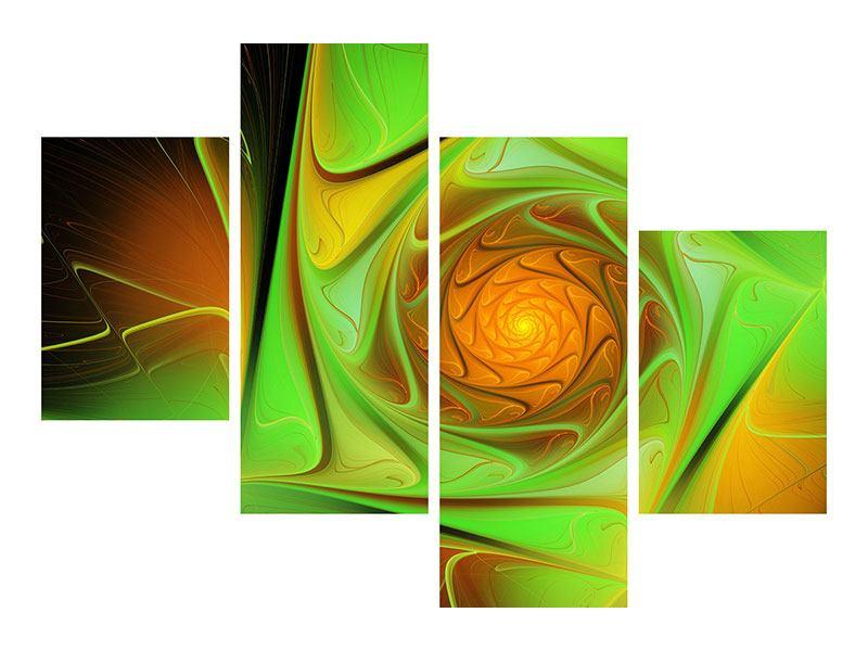 Leinwandbild 4-teilig modern Abstraktionen