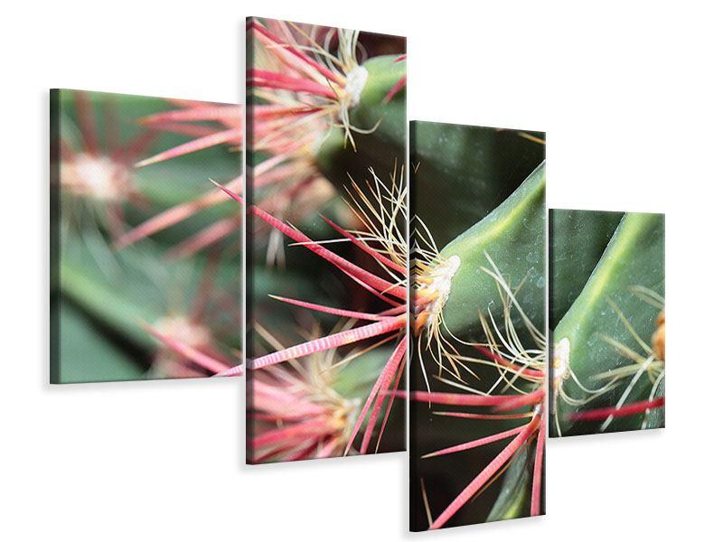 Leinwandbild 4-teilig modern Die Kaktusblüte