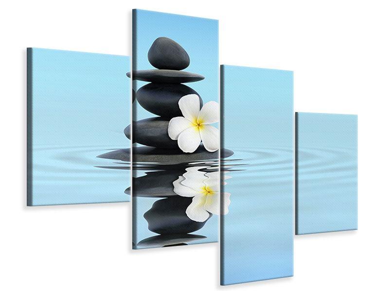 Leinwandbild 4-teilig modern Zen Steine