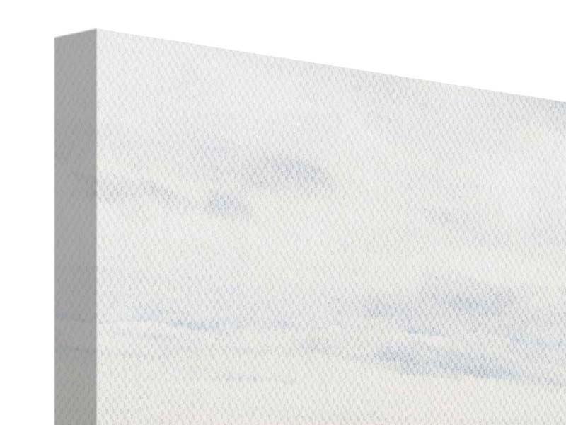 Leinwandbild 4-teilig modern Leise Wellen