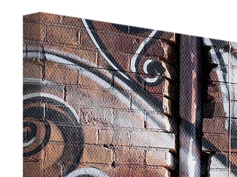 Leinwandbild 4-teilig modern Graffiti Mauer
