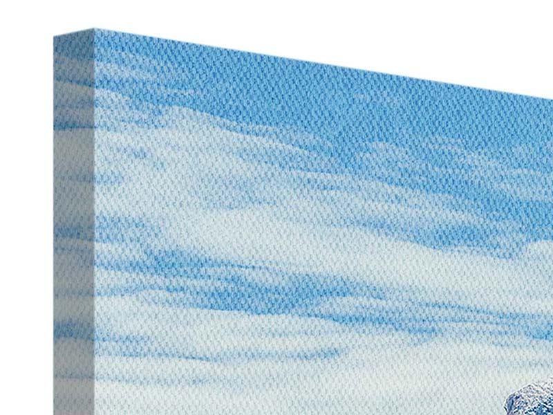 Leinwandbild 4-teilig modern Friedliche Bergstimmung