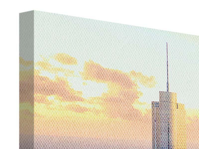 Leinwandbild 4-teilig modern Skyline Chicago