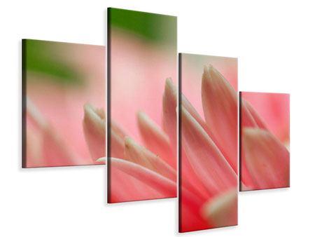 Leinwandbild 4-teilig modern Close Up einer Blüte