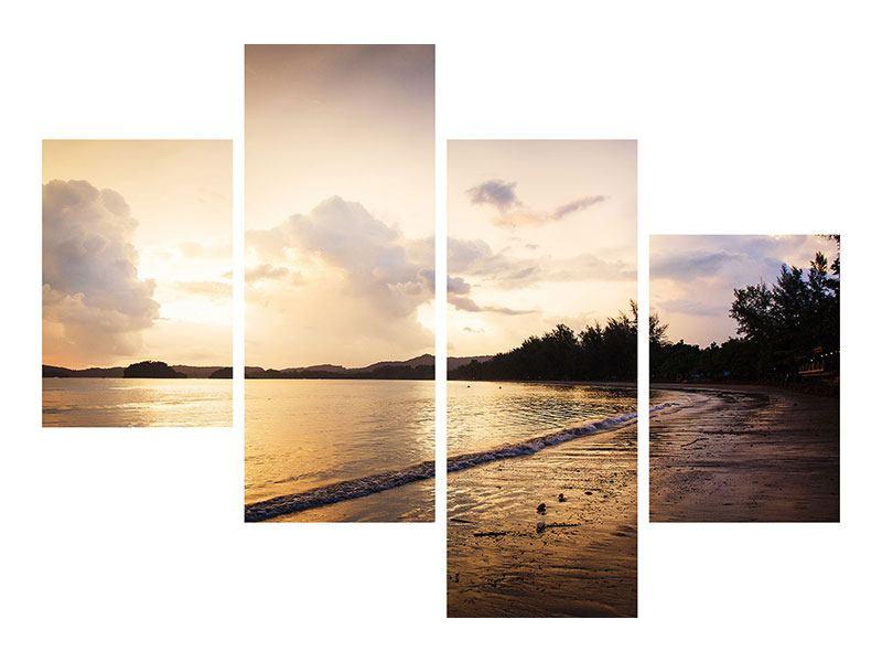 Leinwandbild 4-teilig modern Das Ufer