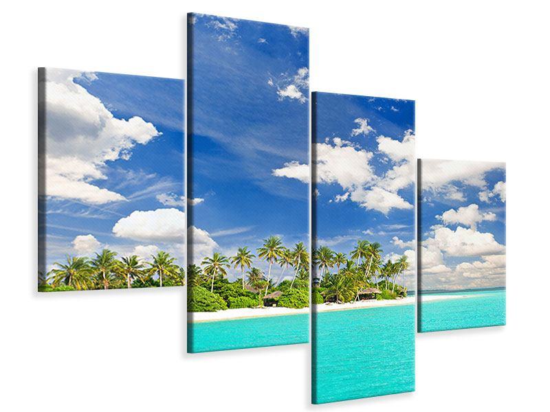 Leinwandbild 4-teilig modern Meine Insel