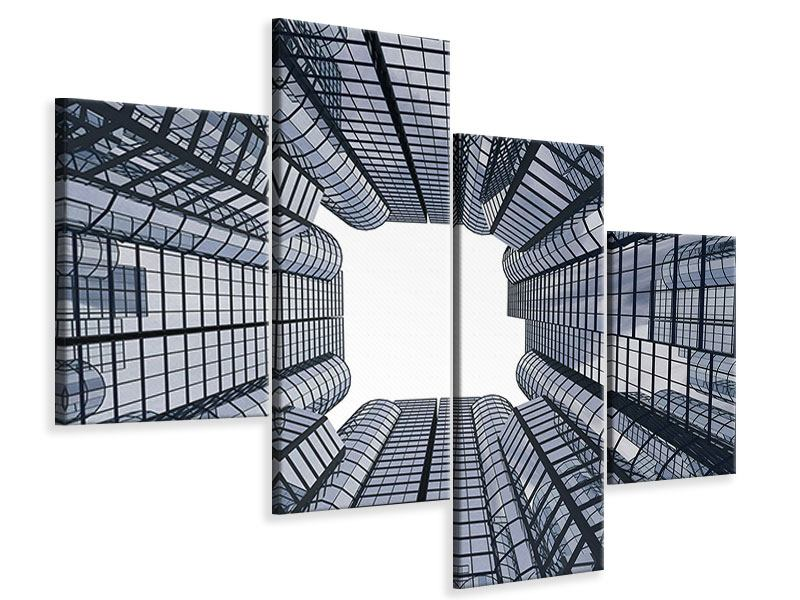 Leinwandbild 4-teilig modern Besondere Perspektive