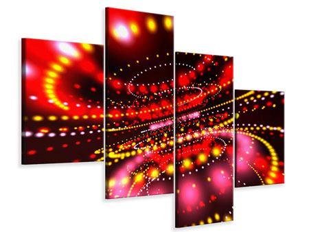 Leinwandbild 4-teilig modern Abstraktes Lichtspiel