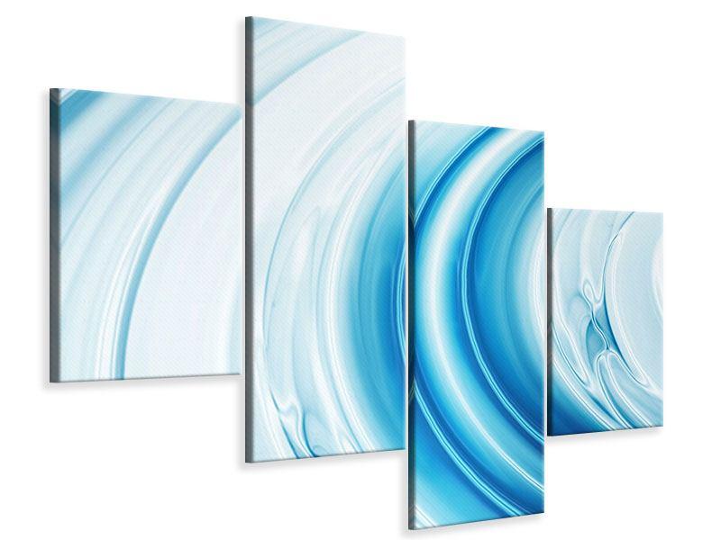 Leinwandbild 4-teilig modern Abstraktes Glas