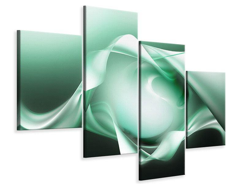 Leinwandbild 4-teilig modern Abstrakt Tuchfühlung