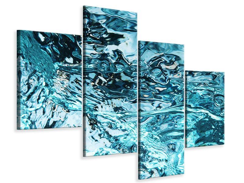 Leinwandbild 4-teilig modern Schönheit Wasser