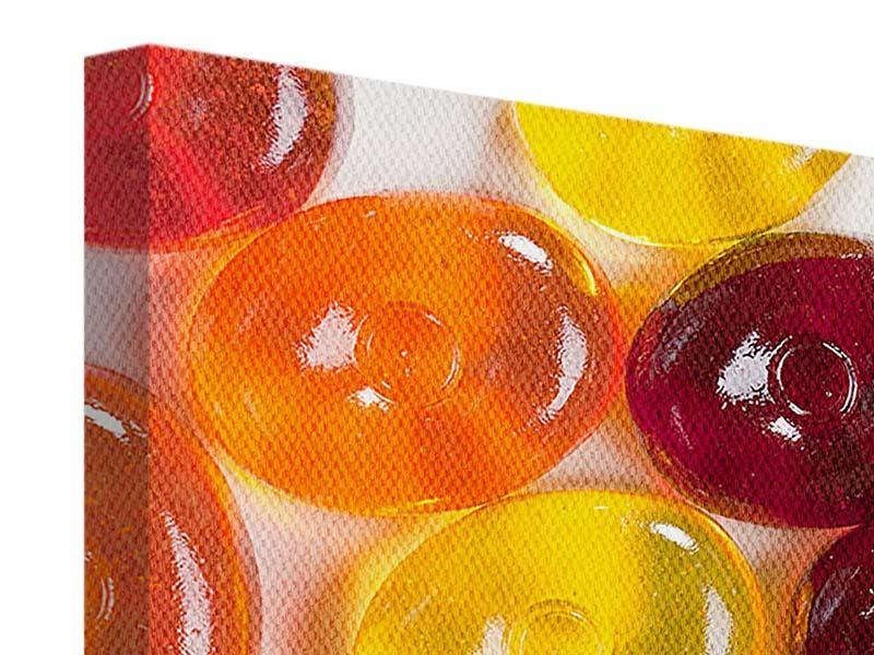 Leinwandbild 4-teilig modern Bonbons