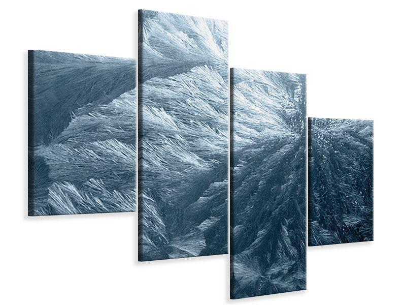 Leinwandbild 4-teilig modern Eis