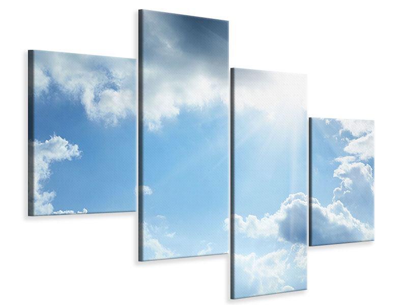 Leinwandbild 4-teilig modern Himmelshoffnung