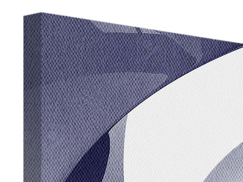 Leinwandbild 4-teilig modern Abstrakte Schwingungen