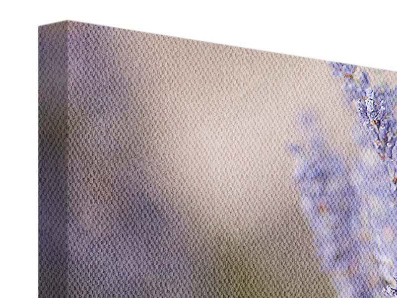 Leinwandbild 4-teilig modern Lavendel XXL