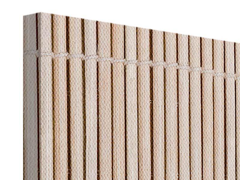 Leinwandbild 4-teilig modern Lucky Bamboo