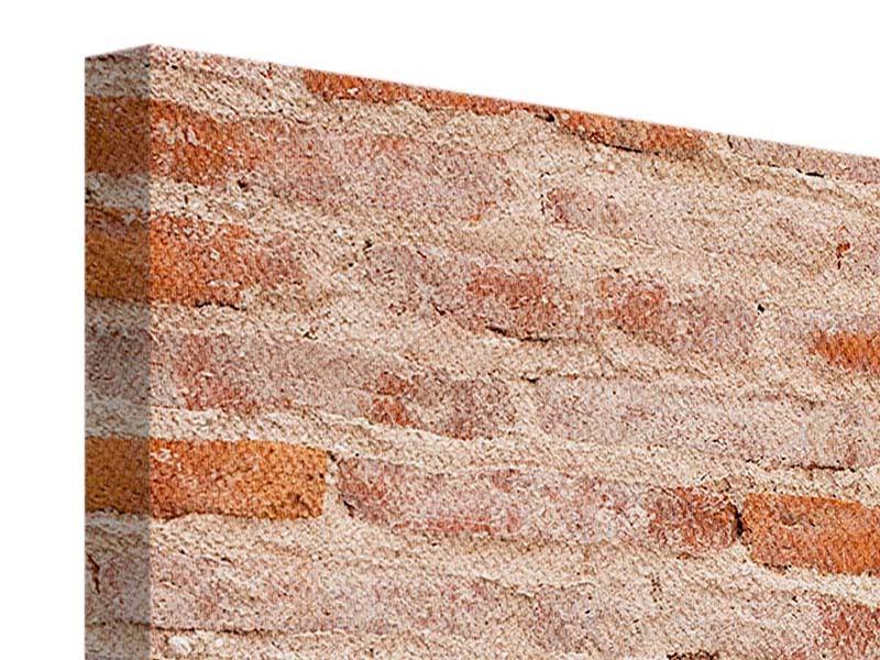 Leinwandbild 4-teilig modern Mauerwerk
