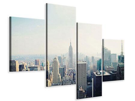 Leinwandbild 4-teilig modern NYC