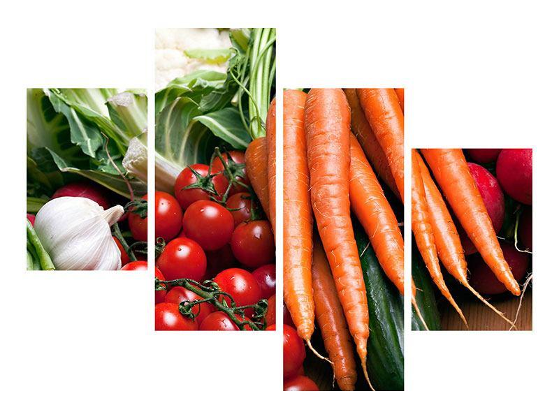 Leinwandbild 4-teilig modern Gemüse