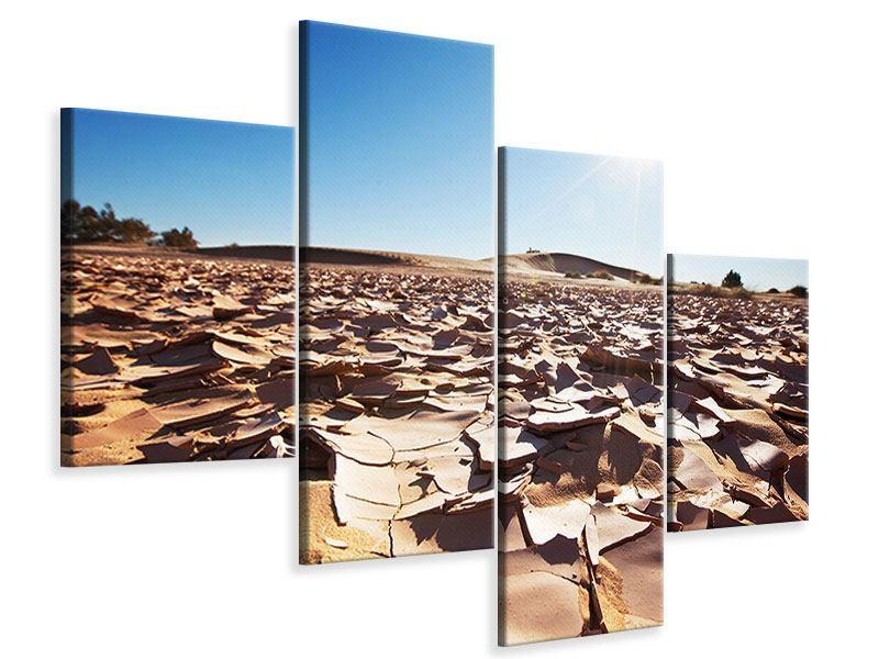 Leinwandbild 4-teilig modern Dürre